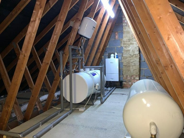 Unvented cylinder installation, Tring